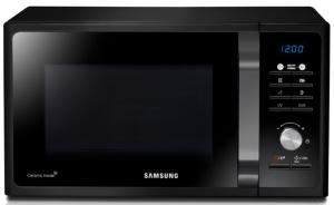 Cuptor cu microunde Samsung MG23F301TAK, 23 Litri, Grill, Comenzi Electronice, Afisaj Digital, Timer 99 Minute, Putere 800 W, Negru