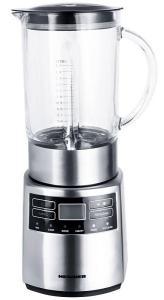 Blender Heinner HBL-1000XMC, 1000 W, 6 programe, viteza variabila+puls, display lcd, recipient din sticla 1.5 litri, inox