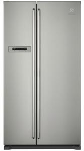Frigider side by side Electrolux EAL6240AOU, sistem de racire no frost, clasa energetica A+, capacitate 373+204 litri, afisaj digital, control electronic, alarma usa, inox antiamprenta