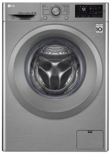 Masina de spalat rufe Lg F4J5TN7S, A+++, 1400 rpm, 8 kg, motor inverter, display, argintiu