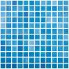 Mozaic piscina niebla azul