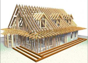 Casa structura lemn