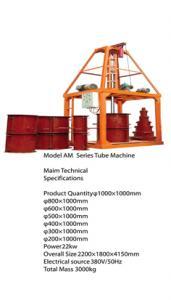 Utilaje pentru fabricat tuburi din beton