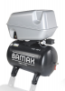 Compresor de aer cu surub  montat pe recipient de