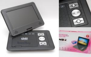 DVD-Dvix Player portabil cu TV + FM (Auto si Priza 220V)
