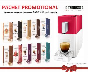 Pachet promo 10 cutii Cremesso + aparat Cremesso Easy Automat