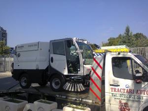 Transport utilaje pe platforme in Bucuresti