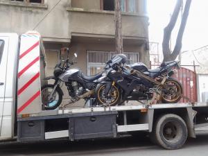 Transport motociclete pe platforma