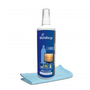 MediaRange - Spray si set de curatare pentru ecrane TFT/LCD/Plasma 250 ml