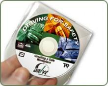 Mini DVD-uri ambalate in plic de plastic transparent