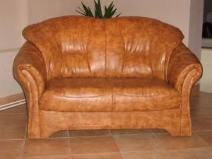 Canapea Carmen de piele naturala, 2 persoane