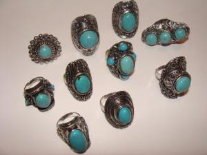 Inele argint vechi turcoaz (pietre semipretioase)