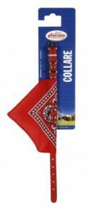 Zgarda piele eco - cu bandana - 1.2 x 35 cm - 3700.35