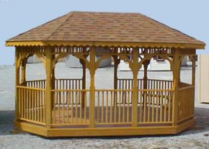 Foisor lemn gradina