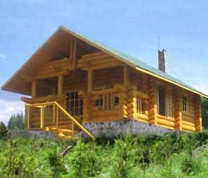 Cabane lemn rotund