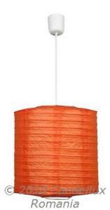 Pendul BUTON 1x60W E27 hartie portocaliu