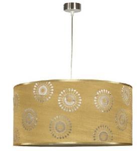 Pendul ARUM 1X60W E27 Auriu textil