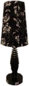 Veioza CUERO 1X60W E27 Neagra textil