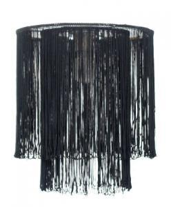 Pendul BRASIL  1X60W E27 Negru textil