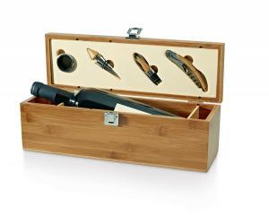 Cutie lemn si accesorii pentru vin Bamboo