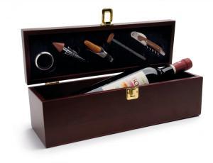 Cutie lemn si accesorii pentru vin Wood