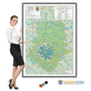 Harta judetului ilfov