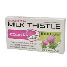 MILK THISTLE + COLINA 30CPS-Hepatoprotector