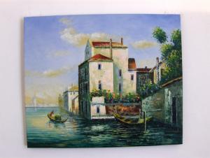 """ Peisaj Venetian 1"" tablou ulei"