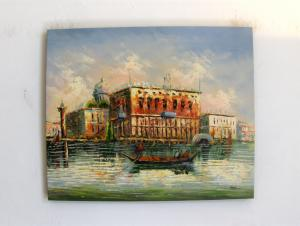 """ Peisaj Venetian 2"" tablou ulei"