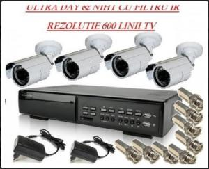 Sistem supraveghere video - 4 camere exterior-manopera inclusa