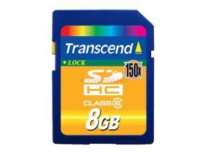 Transcend - Card memorie 8GB SD Class 6