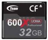 Card compact flash 32gb (600x)