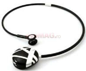 Novero -   Casca Bluetooth novero Colier Victoria - Stripes Silver