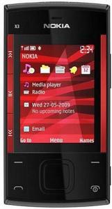 NOKIA - Telefon Mobil NOKIA X3 (Negru/Rosu)