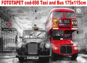 Fototapet decorativ cod-698 Taxi and Bus