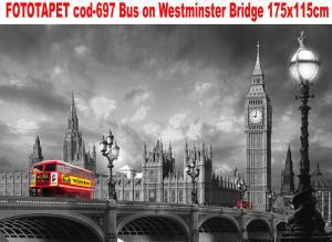 Fototapet peisaj urban cod-697 Bus on Westminster Bridge