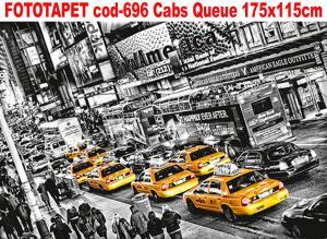 Fototapet masini cod-696 Cabs Queue