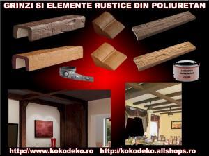 Grinzi rustice poliuretan