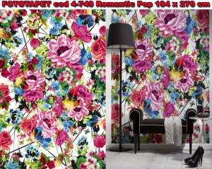 Fototapet floral Romantic Pop