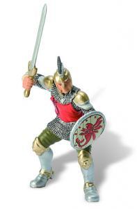 Soldat cu palos si armura rosie