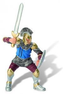 Soldat cu palos si armura albastra