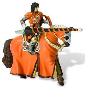 Cavaler cu cal pentru turnir, orange