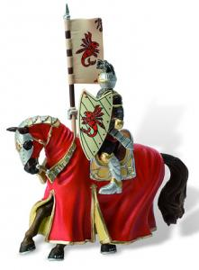 Cavaler cu cal pentru turnir, rosu