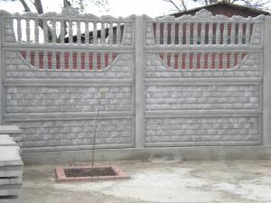 Placi beton gard