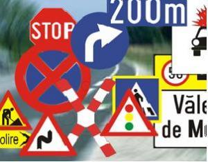 Indicatoare rutiere lucrari temporare