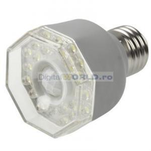 Lampa super-economica cu LED-uri, senzor de prezenta si detector miscare, echivalent bec 40W