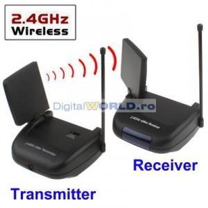 Sender video wireless transmitator audio video radio link cu senzor ir pentru transmiterea - Prise antenne tv sans fil ...