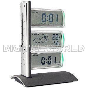 Statie meteo cu termometru, higrometru si ceas, World Clock, Royal MH936