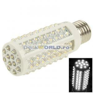 Copie Bec super-economic 108 LED-uri, consum 5W, echivalent 60W, lumina alba calda