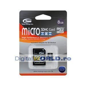 Card memorie Micro SD, SDHC 8GB, Team